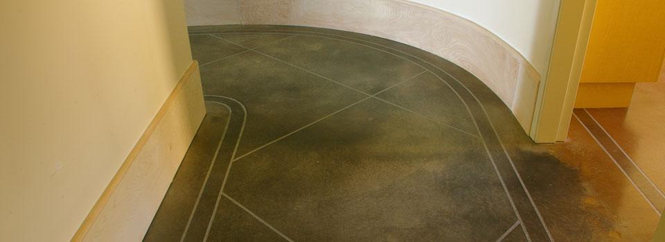 patterns in decorative concrete floor