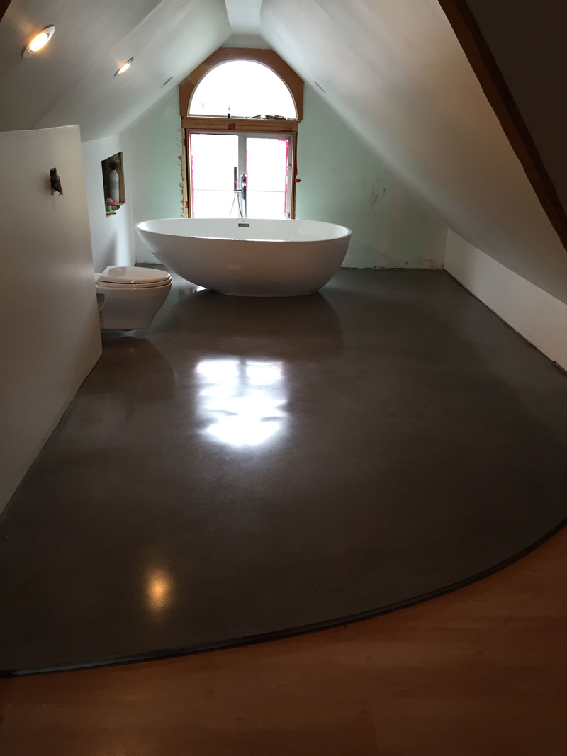 Polished Concrete Overlay With Schluter Ditra Victoria