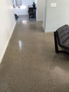 grey polished concrete