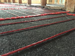 electric cables polished concrete