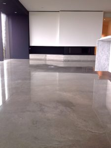 heated concrete floor