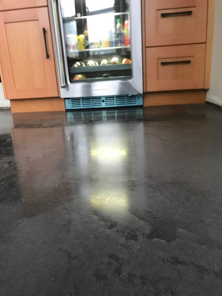 Charcoal Cream Polished Concrete
