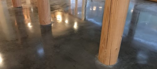 charcoal polished concrete