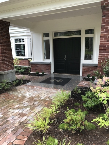 terrazzo entrance for residence