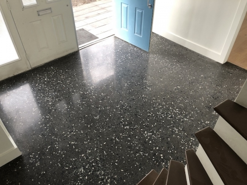 heated terrazzo floor for vancouver home
