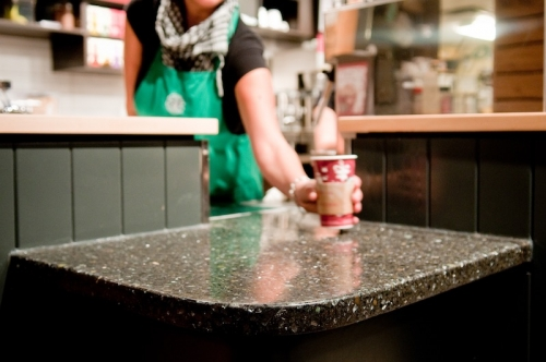 terrazzo countertops for cafe