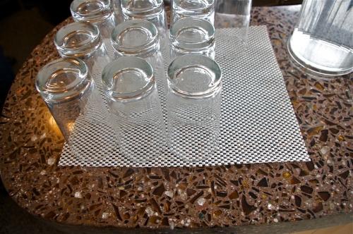 ambers glass in terrazzo